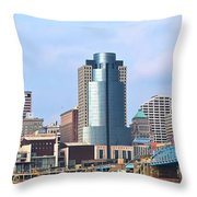 Cincinnati Panoramic Skyline Throw Pillow
