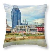 Cincinnati Reds Ballpark 9870 Throw Pillow