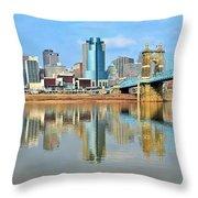 Cincinnati Reflects Throw Pillow
