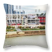 Cincinnati Riverfront 9870 Throw Pillow