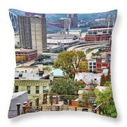 Cincinnati Rooftop 9965 Throw Pillow