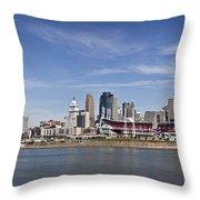 Cincinnati, Ohio Panorama Throw Pillow