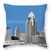 Cincinnati Skyline 1 - Slate Throw Pillow
