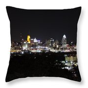 Cincinnati Skyline At Night From Devou Park Throw Pillow