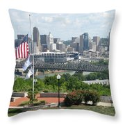 Cincinnati Skyline Throw Pillow
