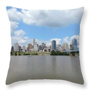 Cincinnati Skyline Throw Pillow
