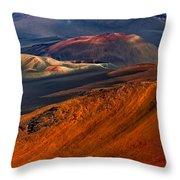 Cinder Cones In Haleakala Throw Pillow
