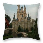Cinderella's Castle Reflected Throw Pillow