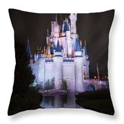 Cinderella's Castle Reflection Throw Pillow