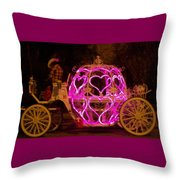 Cinderella's Coach Texas Style Throw Pillow
