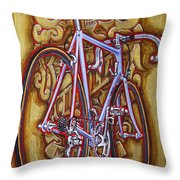 Cinelli Laser Bicycle Throw Pillow