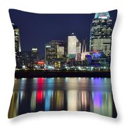 Cinicinnati At Dusk Throw Pillow