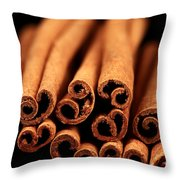 Cinnamon Sticks Throw Pillow