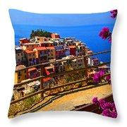 Cinque Terre 1 Throw Pillow