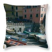 Cinque Terre 3 Throw Pillow