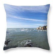 Cinque Terre And The Sea Throw Pillow