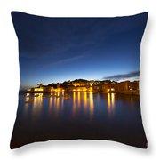 Cinque Terre At Night Throw Pillow