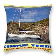 Cinque Terre II Throw Pillow