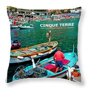 Cinque Terre Iv Throw Pillow