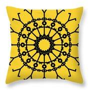 Circle 2 Icon Throw Pillow by Thisisnotme