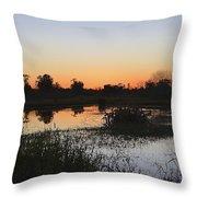 Circle B Winter Sunset Throw Pillow