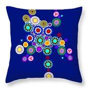 Circle Motif 249 Throw Pillow