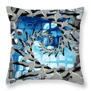 Circle Of Flight Throw Pillow