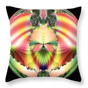 Circle Of Rainbows Throw Pillow