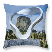 Circle Of Sacred Smoke  Throw Pillow