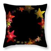 Circle Of Stars Throw Pillow