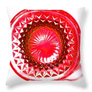 Circle Red Throw Pillow