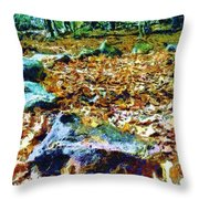 Circle Stones Throw Pillow