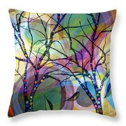 Circle Trees Throw Pillow