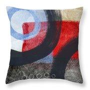 Circles 1 Throw Pillow by Linda Woods