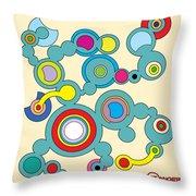 Circles 3 Throw Pillow