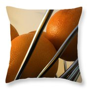 Circles And Lines Throw Pillow