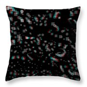 Circles And Squares - Use Red-cyan 3d Glasses Throw Pillow
