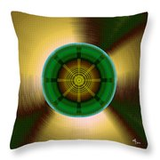 Circles In A Square 9 Throw Pillow