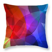 Circles In Colorful Abstract Throw Pillow
