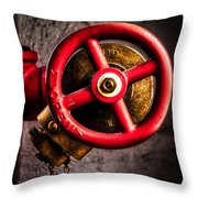 Circles In Square Throw Pillow