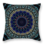 Circles Of Blue Throw Pillow