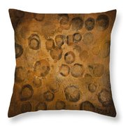 Circles Of Gold Throw Pillow