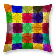 Circles Over Squares Throw Pillow