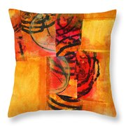 Circles Squared Throw Pillow