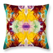 Circling The Unknown Abstract Healing Artwork By Omaste Witkowsk Throw Pillow