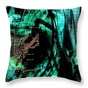 Circuit Board Throw Pillow