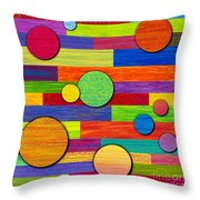 Circular Bystanders  Throw Pillow