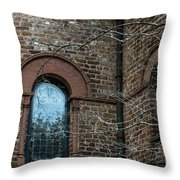 Circular Church Window Throw Pillow