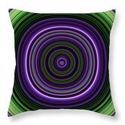 Circular Concentric Stripes In Multiple Colors Throw Pillow