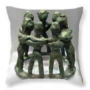 Circular Dancers Throw Pillow